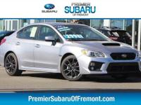 Options:  2018 Subaru Wrx Premium 4D Sedan|Popular