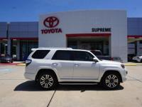 Blizzard Pearl 2018 Toyota 4Runner Limited RWD 5-Speed