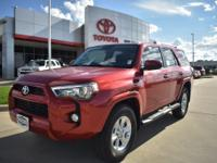 Red 2018 Toyota 4Runner SR5 RWD 5-Speed Automatic with