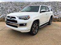Blizzard Pearl 2018 Toyota 4Runner Limited 4WD 5-Speed