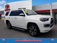 Recent Arrival! 2018 Toyota 4Runner Limited White