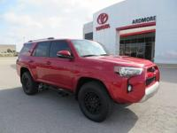 4WD, Black. 2018 Toyota 4Runner TRD Off-Road Premium 4D