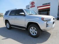 4WD, Black Cloth. 2018 Toyota 4Runner SR5 4D Sport