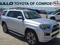 Silver 2018 Toyota 4Runner Limited  Let the team at