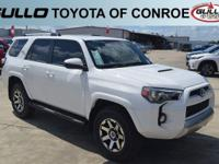 White 2018 Toyota 4Runner TRD Off-Road  Let the team at