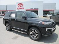 Recent Arrival! 2018 Toyota 4Runner Limited 4.0L V6