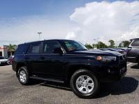 Black 2018 Toyota 4Runner 4WD 5-Speed Automatic with