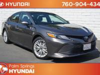 Clean CARFAX. Gray 2018 Toyota Camry Hybrid XLE XLE FWD