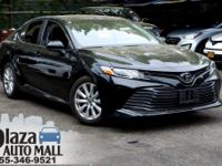 Certified. 2018 Toyota Camry LE Midnight Black Metallic