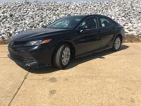 Black 2018 Toyota Camry LE FWD 8-Speed Automatic 2.5L