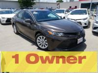 CARFAX One-Owner. Clean CARFAX. Grey 2018 Toyota Camry