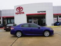 Blue 2018 Toyota Camry LE FWD 8-Speed Automatic 2.5L I4