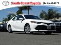 Clean CARFAX. Super White 2018 Toyota Camry LE FWD