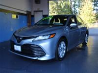 Silver 2018 Toyota Camry LE FWD 8-Speed Automatic 2.5L