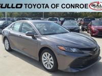 Gray 2018 Toyota Camry LE 39/28 Highway/City MPG  Let