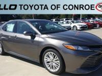 Gray 2018 Toyota Camry XLE 39/28 Highway/City MPG  Let