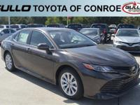 Brown 2018 Toyota Camry LE 39/28 Highway/City MPG  Let