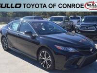 Black 2018 Toyota Camry SE 39/28 Highway/City MPG  Let
