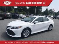 Super White 2018 Toyota Camry LE FWD 8-Speed Automatic