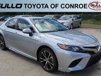 Silver 2018 Toyota Camry SE 39/28 Highway/City MPG  Let