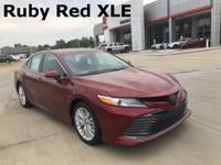 2018 Toyota Camry in Red exterior and Black interior,