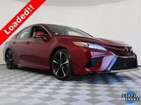 2018 Toyota Camry Black Leather, ABS brakes, Compass,
