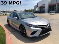 2018 Toyota Camry in Silver exterior and Black/Al