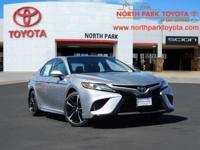 2018 Toyota Camry XSE Black. 39/28 Highway/City