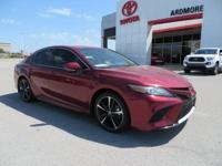 Black Leather. 2018 Toyota Camry XSE 4D Sedan Ruby