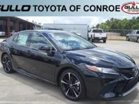 Black 2018 Toyota Camry XSE 39/28 Highway/City MPG  Let