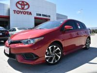 Red 2018 Toyota Corolla iM FWD 7-Speed Automatic 1.8L