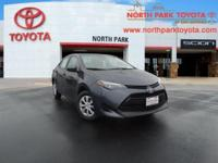 2018 Toyota Corolla L 36/28 Highway/City MPGEmail us or