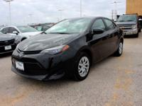 Clean CARFAX. Black Sand Pearl 2018 Toyota Corolla LE