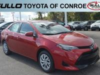 Red 2018 Toyota Corolla LE 36/28 Highway/City MPG  Let