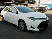 Recent Arrival! Certified. 2018 Toyota Corolla LE White