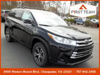 Midnight Black Metallic 2018 Toyota Highlander LE AWD
