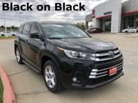 2018 Toyota Highlander in Black exterior and Black