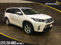 Blizzard Pearl 2018 Toyota Highlander Limited AWD