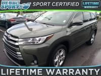 2018 Toyota Highlander Limited 3.5L V6. Save thousands