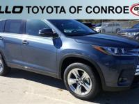 Blue 2018 Toyota Highlander Limited 27/21 Highway/City