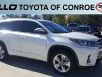 White 2018 Toyota Highlander Limited 27/21 Highway/City