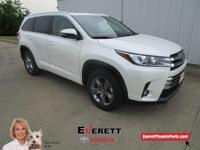 Recent Arrival! 2018 Toyota Highlander Limited Platinum