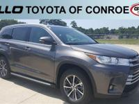 Gray 2018 Toyota Highlander XLE 27/21 Highway/City MPG