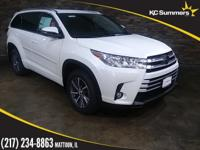 Blizzard Pearl 2018 Toyota Highlander XLE AWD 8-Speed