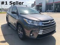 2018 Toyota Highlander in Gray exterior and Lgt Gry/Drk