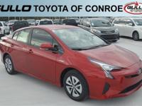 Red 2018 Toyota Prius Two 54/50 City/Highway MPG  Let