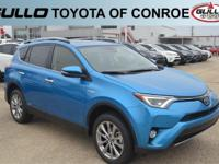 Blue 2018 Toyota RAV4 Hybrid Limited 30/34 Highway/City