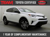 Almost New 2018 Toyota Certified RAV4 LE with just 370