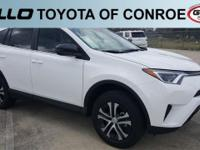 White 2018 Toyota RAV4 LE 30/23 Highway/City MPG  Let