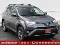 Certified. Gray 2018 Toyota RAV4 Limited AWD 6-Speed